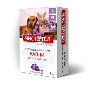 CHISTOTEL Drops against fleas and ticks for cats and dogs (3 pipettes)